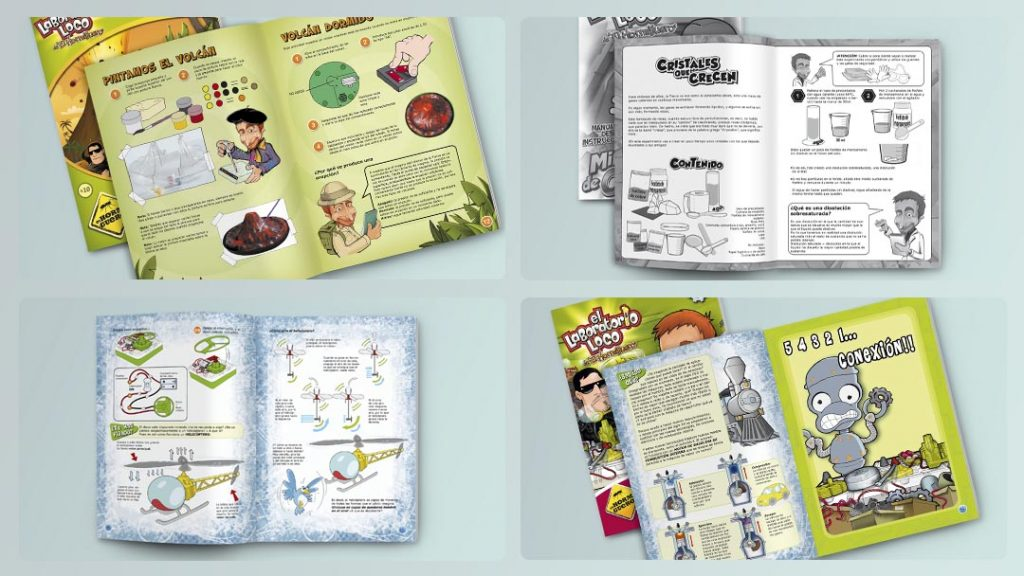 Instructions Manuals for Chemical Toys for Giro Marketing&Toys