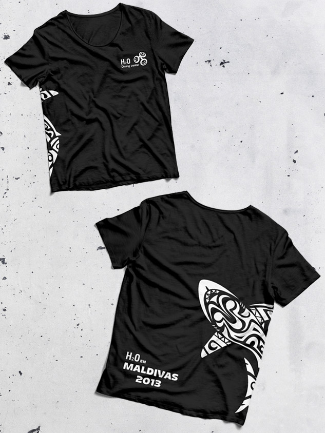 Special T-Shirt for Maldives Trip for H2O Diving Center