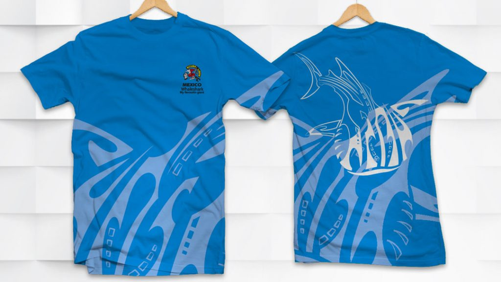 Uniform for the staff and for sale WhaleShark T-Shirts (male) for ScubaLibre